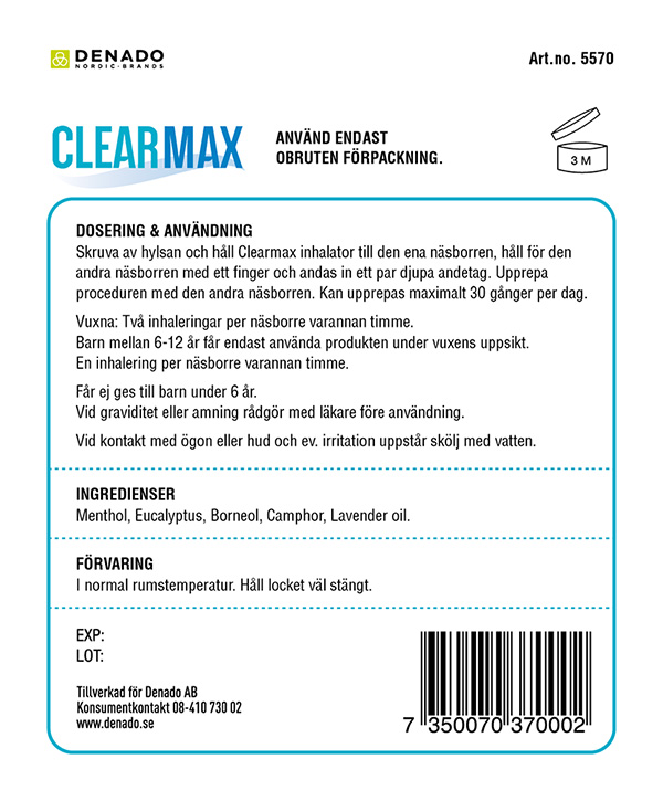 Clearmax blister Classic